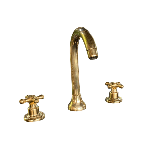 BT1 3 holes deck mounted basin tap solid brass