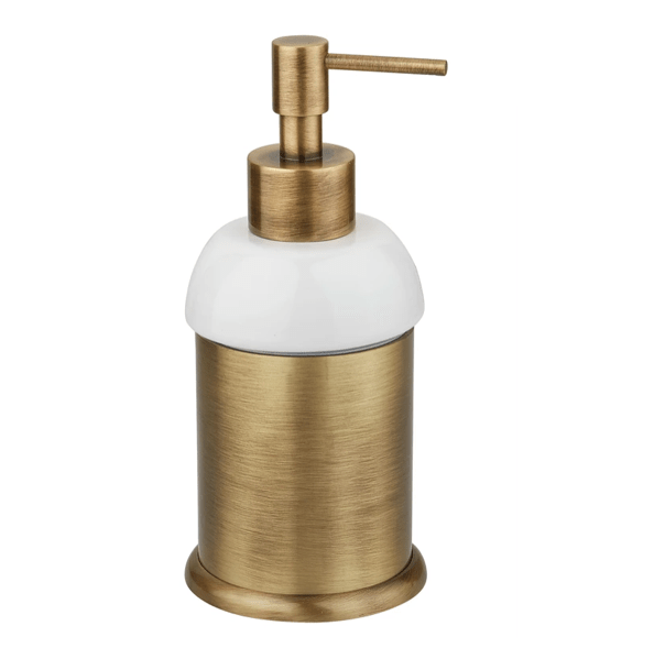 BTA33 Dispenser in solid brass and white ceramic