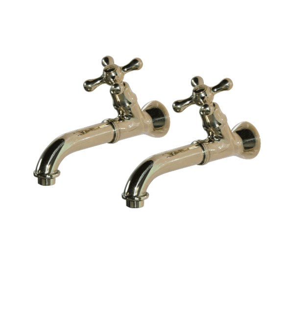 BT59 Pair of wall mounted taps hot & cold