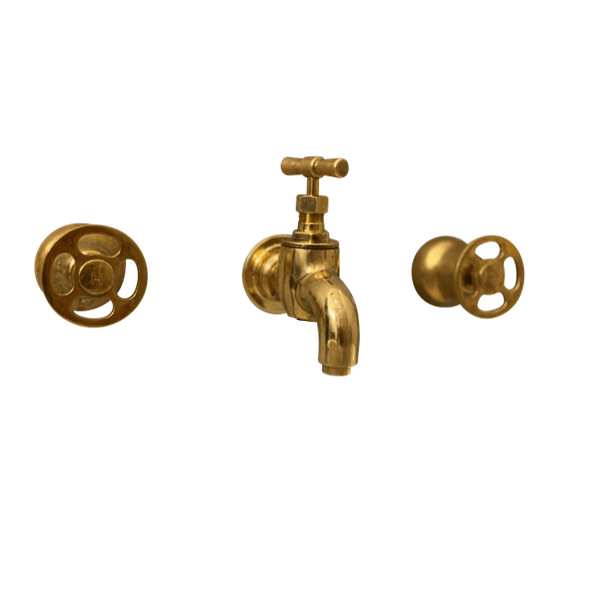 BT63 Wall mounted traditional triple handles tap