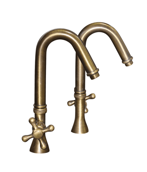 BT69 Traditional deck mounted taps hot & cold