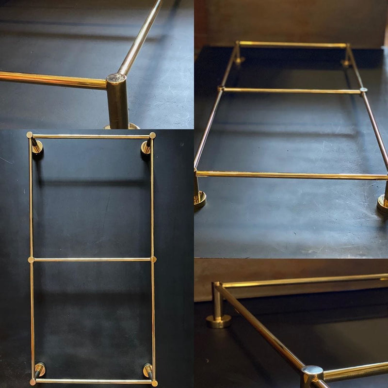 BTA30 Towel rail in solid brass