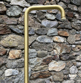 BTS1F Floor mounted brass column shower for gardens and bathrooms