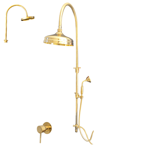 BTS27 Column shower with hand shower and mixer