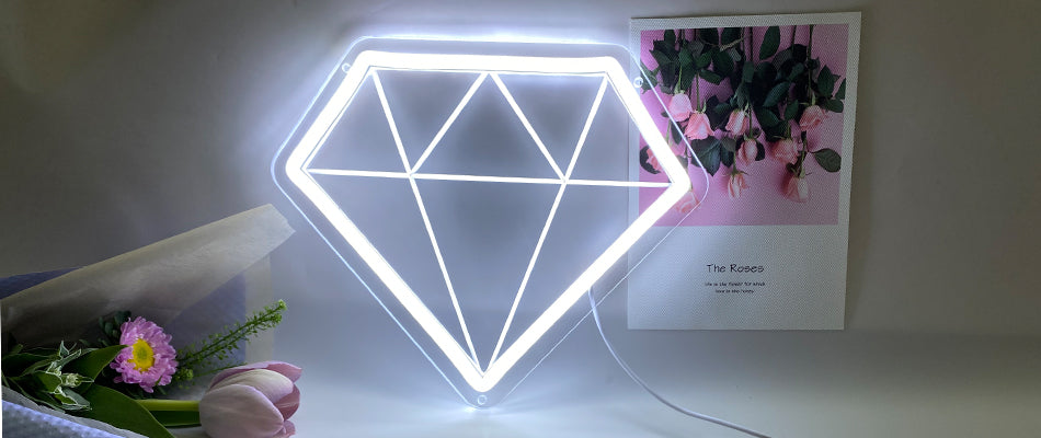 Diamond neon signs
