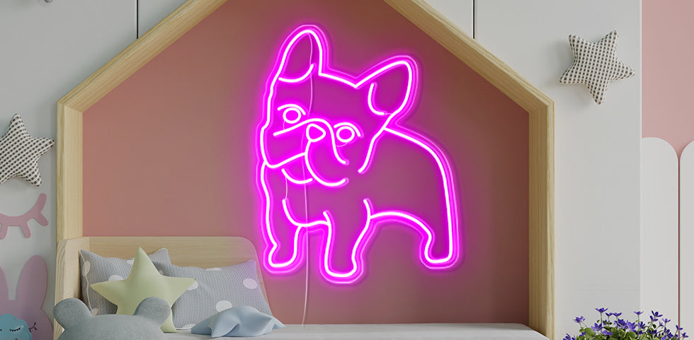 personalised dog neon signs