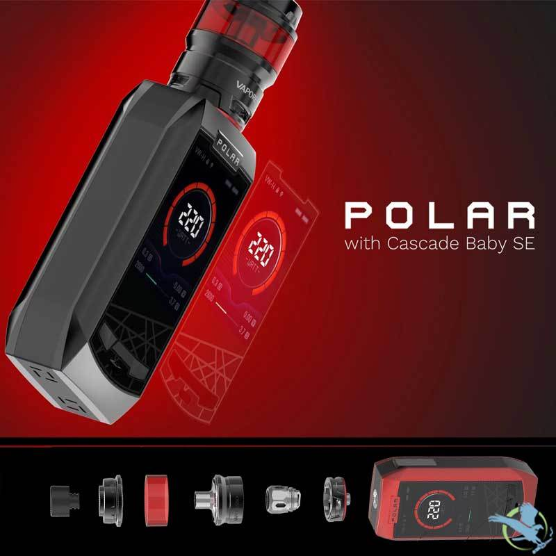 Vaporesso Polar 220W TC Starter Kit With 6.5ML Cascade Baby SE Tank