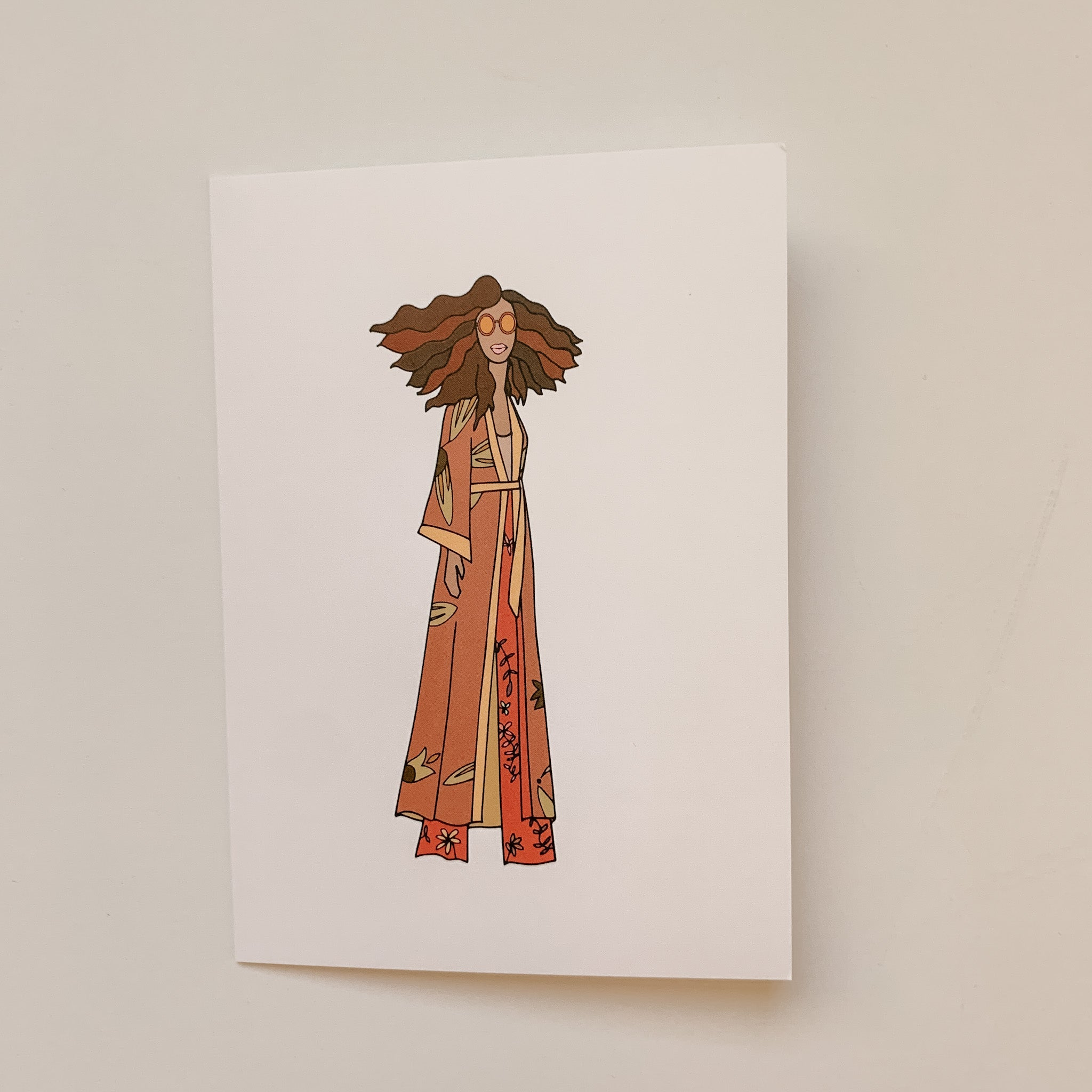 """Retro Glam"" Greeting Card"