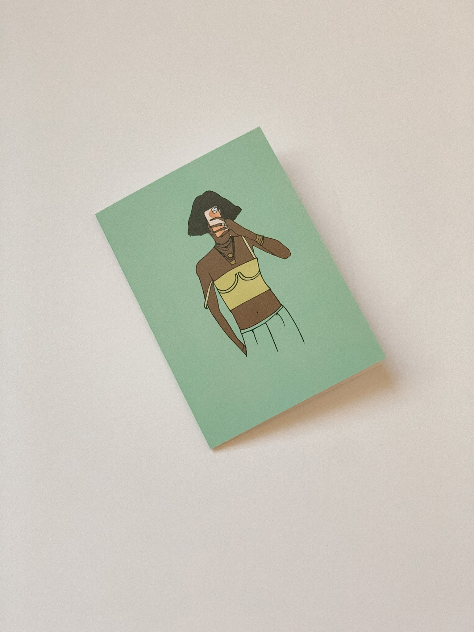 """Cool Girl"" Greeting Card"