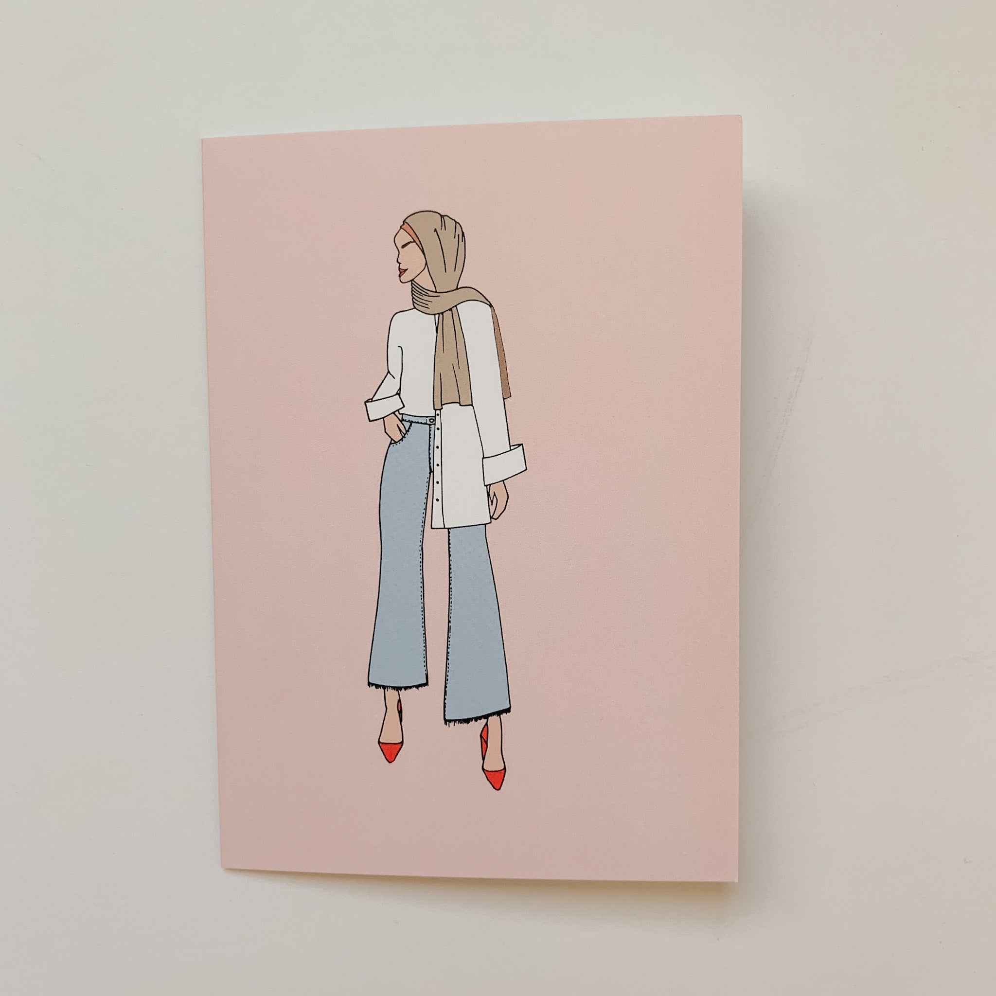 """Modern Modest"" Greeting Card"