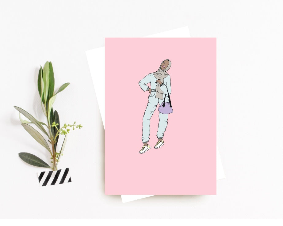 """All Over Overalls"" Greeting Card"