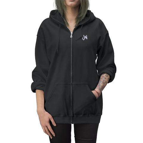 JN Embroidered Full Zip Up Hoodie