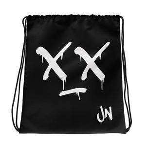 WUT FACE DRAWSTRING BAG - Black