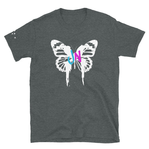 BUTTERFLY GRAPHIC T-SHIRT - CHARCOAL GREY