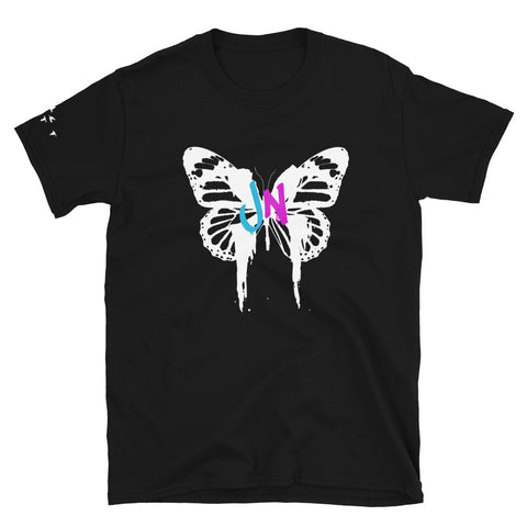 Butterfly Graphic T-Shirt  - Black