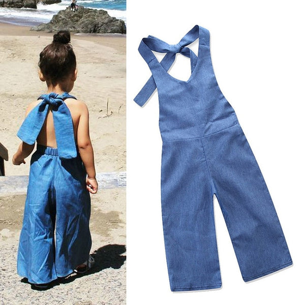 Summer Toddler Denim Overalls Jeans For Kids