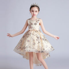 Sundae Angel Summer Dress For Kids Girl Sequin Petals
