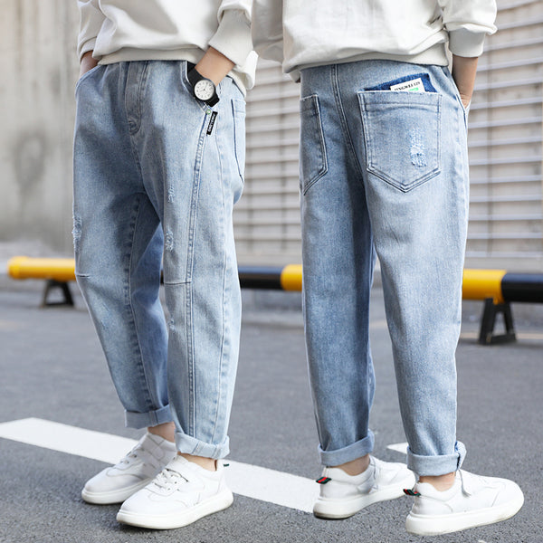 Boys Jeans Children's Wear Spring Autumn Fashion Denim