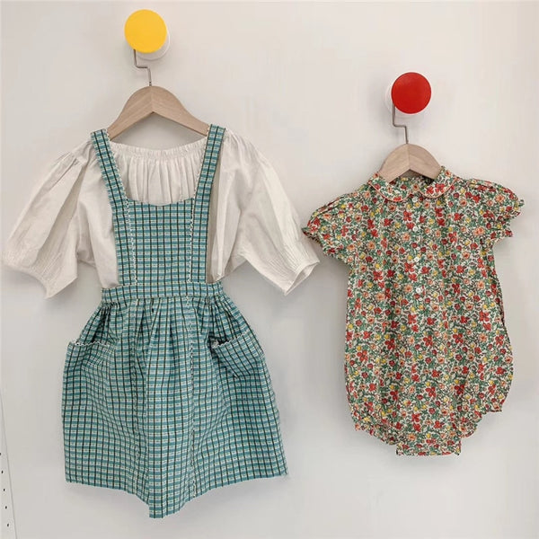 Caramel Baby Clothes Summer Beuatiful Girls Strap Dress