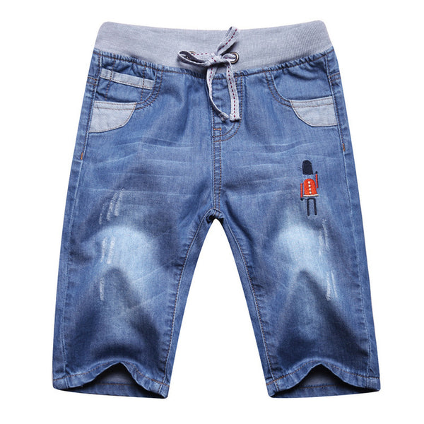 Children's Casual Jeans Pants Cotton Wear Resistant