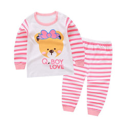 Infant Baby Girls Toddler Cotton Long Sleeve Sport Suit
