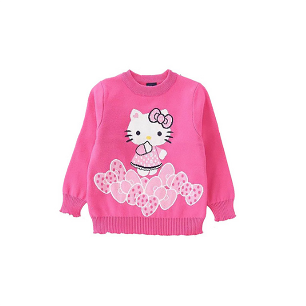 Kids Sweater Red Cute Baby Girls Pullover Sweaters