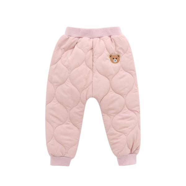 Winter 2019 Small Bear Embroidered Thickened Pants