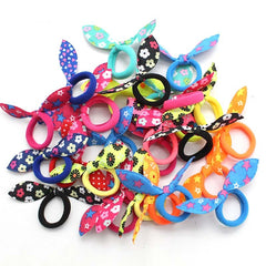 Children Elastic Hairband Cute Polka Bow Rabbit Ears Headbands