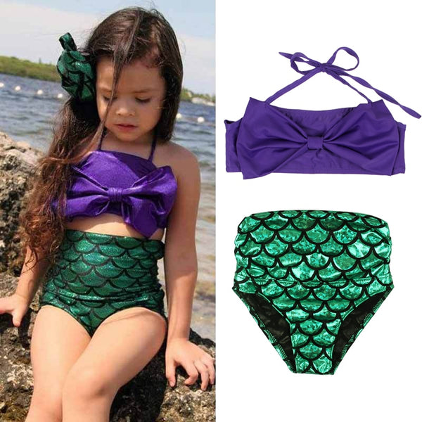 Girls Swimwear Mermaid Cute Baby Bikini Sets