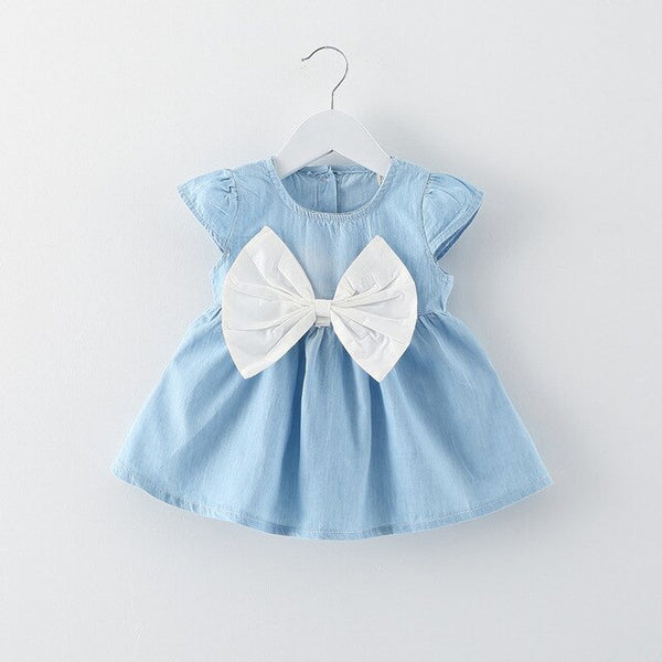 Girls Denim Dresses One Piece Casual Wear Clothes Girl