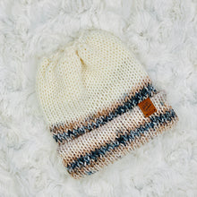 Load image into Gallery viewer, Ponytail Beanie - Cream Ombré