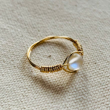 Load image into Gallery viewer, Wire Wrapped Ring - Golden Opal