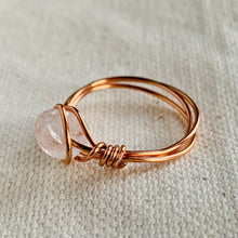 Load image into Gallery viewer, Wire Wrapped Ring - Solitaire Clear Glass