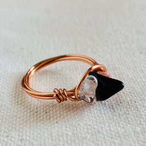 Wire Wrapped Ring - Copper Trio