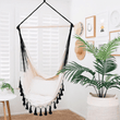 Hammock chair | indoor handmade boho black tassel - hawaii -