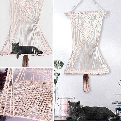 Hammock for pets cat hand woven swing chair