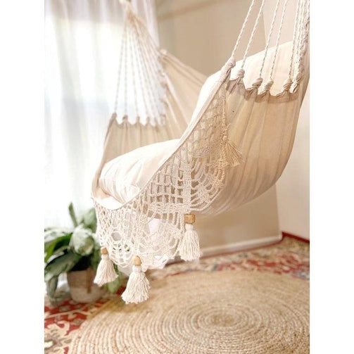 Swing chair | white handmade - ischia - boho hammock chair ✓