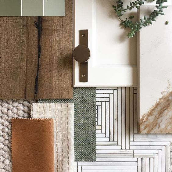flat lay tile selections