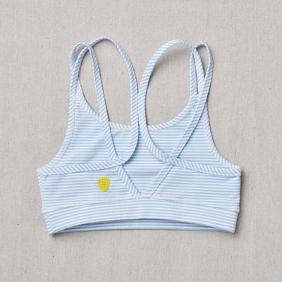 NEW Star Bra in raindrop stripe (Blue and white) Back Side