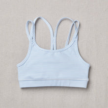 Load image into Gallery viewer, NEW Star Bra in raindrop stripe (Blue and white) Front Side