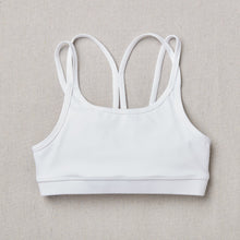 Load image into Gallery viewer, NEW Star Bra in Snowflake (White) Front Side