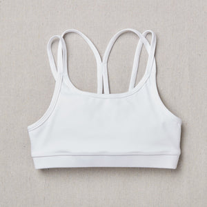 NEW Star Bra in Snowflake (White) Front Side