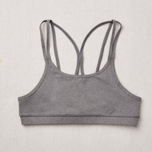 Load image into Gallery viewer, NEW Star Bra in Charcoal (Dark Gray) front side