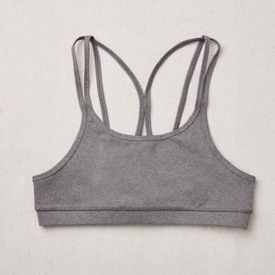 NEW Star Bra in Charcoal (Dark Gray) front side