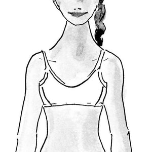 Drawing of the front of the New Firefly Hybrid bra
