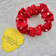 Load image into Gallery viewer, Yellowberry Scrunchie in Apple Dot (Red with White Dots)