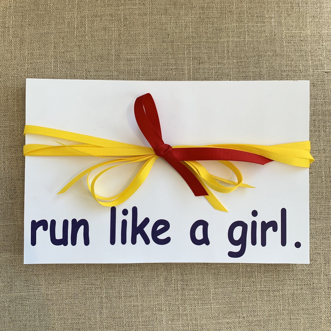 Run Like a Girl Notepad