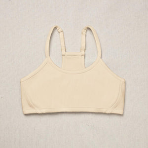 New Firefly Hybrid bra in Doe (Tan) Front Side