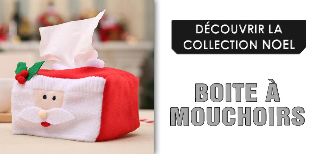 Collection de boites à mouchoirs noël