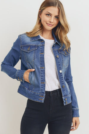 Jolene Jacket - Mid Blue